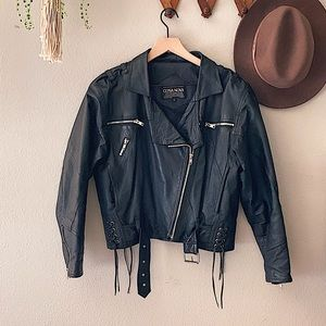 VTG Leather Moto Jacket